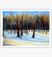 WINTER SCENE LANDSCAPE CANADIAN ART PAINTINGS Sticker
