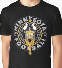 Minnesota Football Viking Compass - North Star Sports Collection  Graphic T-Shirt