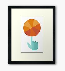 Basketball Spin Icon Framed Print