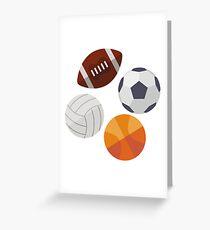 Sports Balls (Icons) Greeting Card