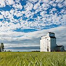 Old Wooden Grain Elevator On The Prairie by Steve Boyko
