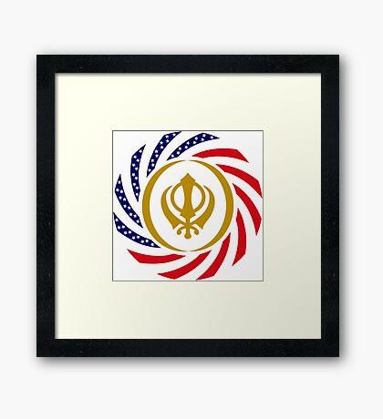 Sikh American Patriot Flag Series Framed Print