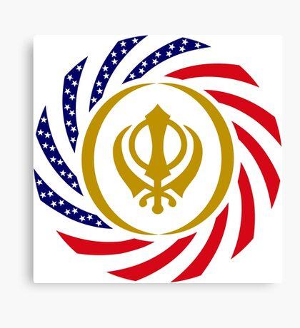 Sikh American Patriot Flag Series Canvas Print