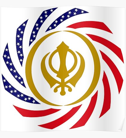 Sikh American Patriot Flag Series Poster