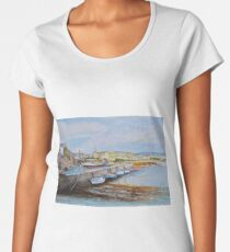 Afternoon at Port St Mary on the Isle of Man Women's Premium T-Shirt