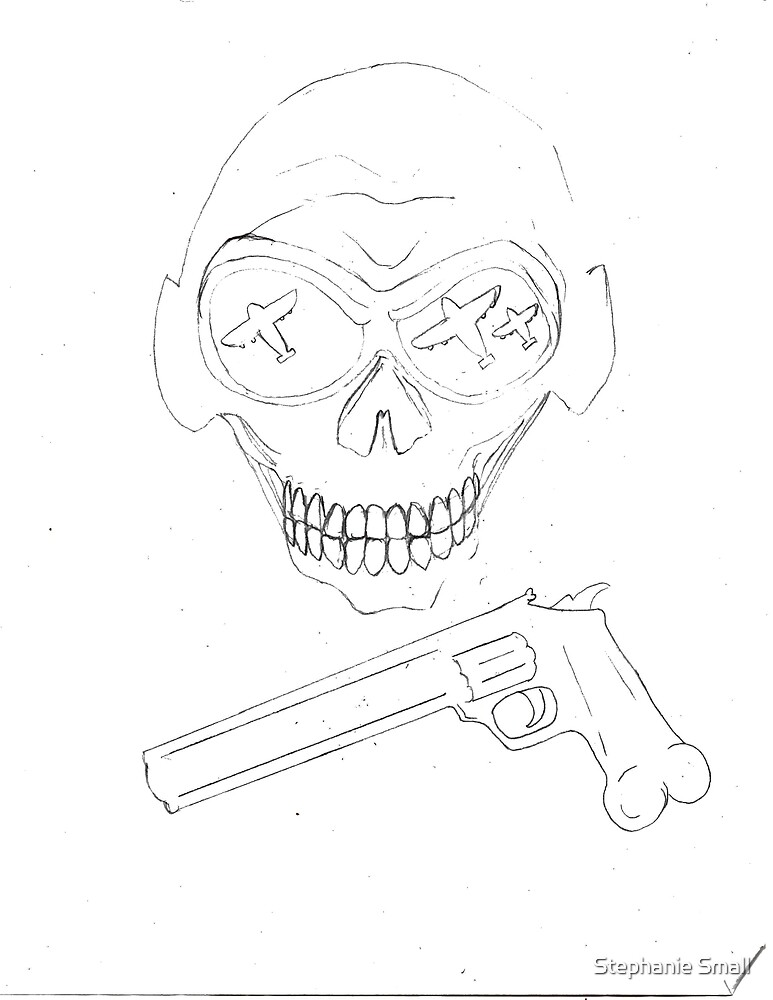 Skull and Gun by Stephanie Small