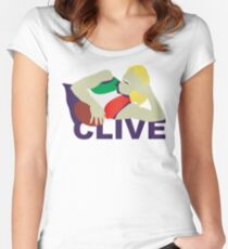 Clive Waterhouse - Classic Freo Women's Fitted Scoop T-Shirt