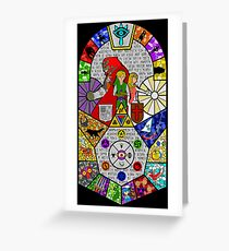 History of Hyrule Stained Glass Greeting Card