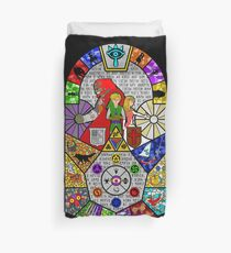 History of Hyrule Stained Glass Duvet Cover