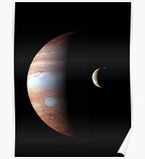 New Horizons - Jupiter Size Comparison Poster