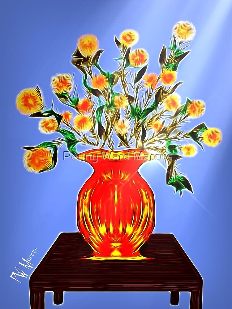 Bouquet of orange, yellow and red flowers 2 by Penny Ward Marcus