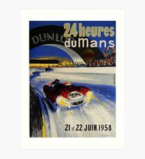 24hs Le Mans, 1958 Art Print