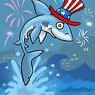 Fourth of July Shark by MikePaulArt