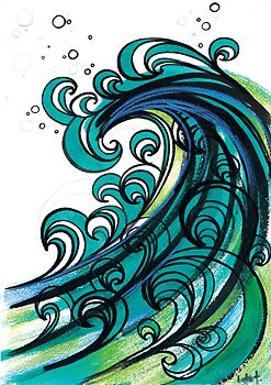 Wave on Waves by LukeTaaffe