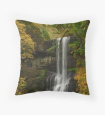 Lower South Falls Panorama Throw Pillow