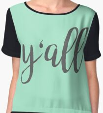 Y'all cursive Women's Chiffon Top