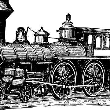 Vintage Locomotive 0713 by cartoon