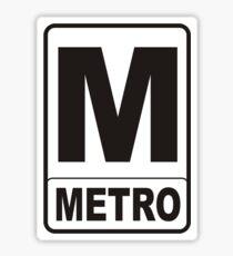 Metro Sign Sticker