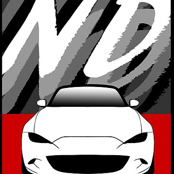 WHITE ND MIATA (RED SQUARE) by RoscoeLiosis