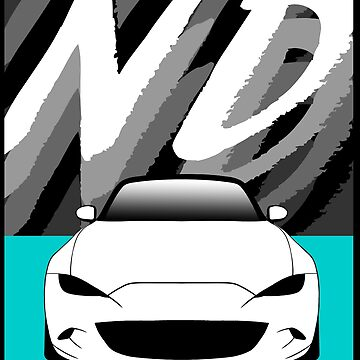 WHITE ND MIATA (TEAL SQUARE) by RoscoeLiosis
