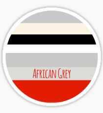 African Congo Grey Pallet Sticker