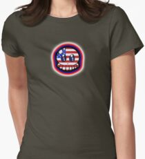 Patriotic Tako-Chan Womens Fitted T-Shirt