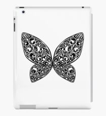 Whimsical Butterfly (White Black ver.) iPad Case/Skin