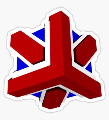 Union Jack Cube I Sticker