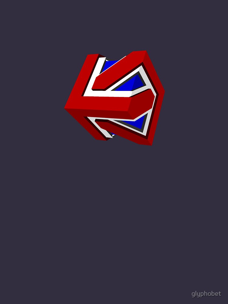 Union Jack Cube II By Glyphobet. + 17 Colors Great Pictures