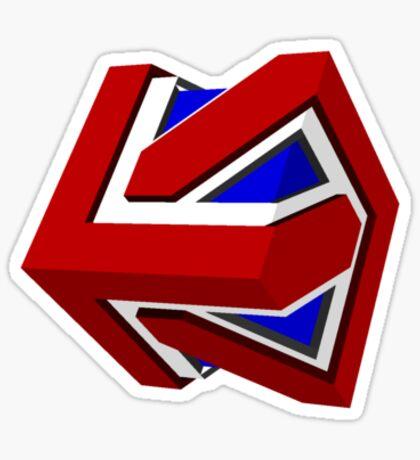 Union Jack Cube II Sticker