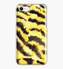 Animal fur yellow black iPhone Case/Skin