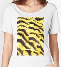 Animal fur yellow black Women's Relaxed Fit T-Shirt