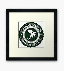 Dragon Sanctuary - Badge Size Framed Print