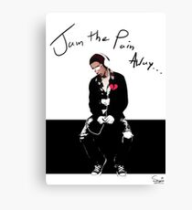 Jam The Pain Away... Canvas Print