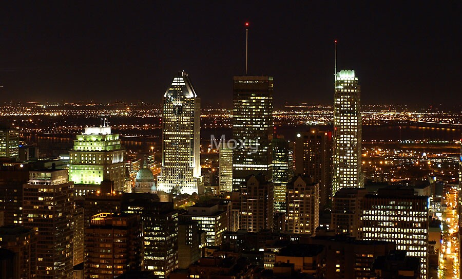 Montreal at Night 1 by Moxy