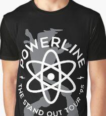 Powerline (white & Grey) Graphic T-Shirt