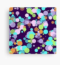 Funky Whimsical Bright Colorful Polka Dots Pattern Canvas Print