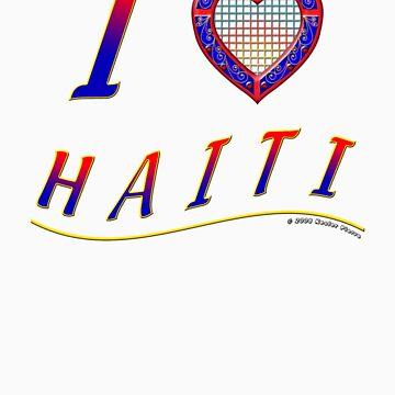 I lLove Haiti - T-Shirt by kesler