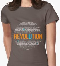 Muse Revolution Death Star Women's Fitted T-Shirt