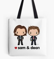 Love Sam & Dean - Supernatural Tote Bag
