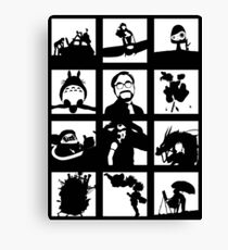 Tribute to Miyazaki Canvas Print