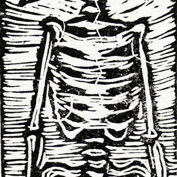 Conciliation - Linoleum engraving on paper by freger