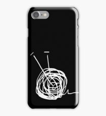 Rolling yarn ball iPhone Case/Skin