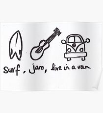 Surf Jam Live in a van Poster