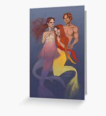 Mermaid-Star Wars Greeting Card
