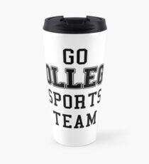 Go College Sports Team Black Travel Mug
