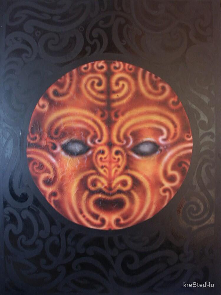 Te Ra (Maori Sun God) by Rangi Matthews