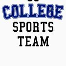 Go College Sports Team Blue by HandDrawnTees