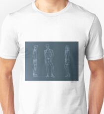 Blueprint. Sketch of fashionable people T-Shirt