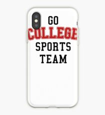 Go College Sports Team Red iPhone Case